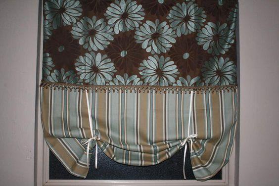 Custom Listing:Gray Chevron Roll Up Curtain Panel