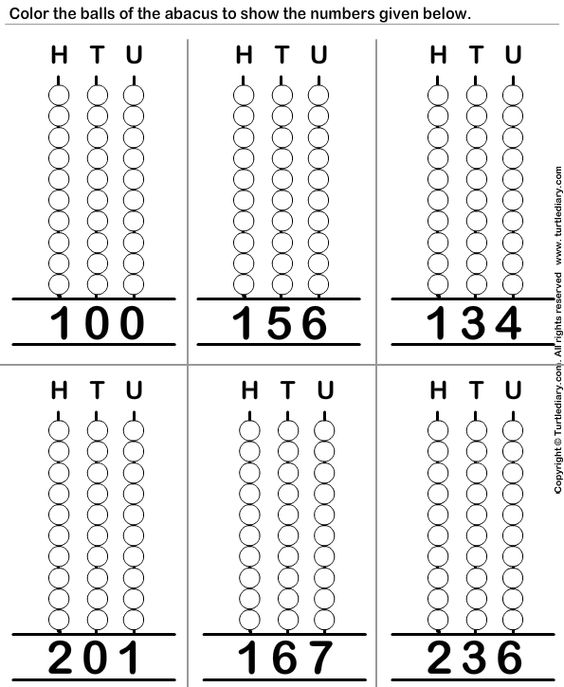 Worksheets Abacus Worksheets place value worksheets abacus preschool worksheet 7 math