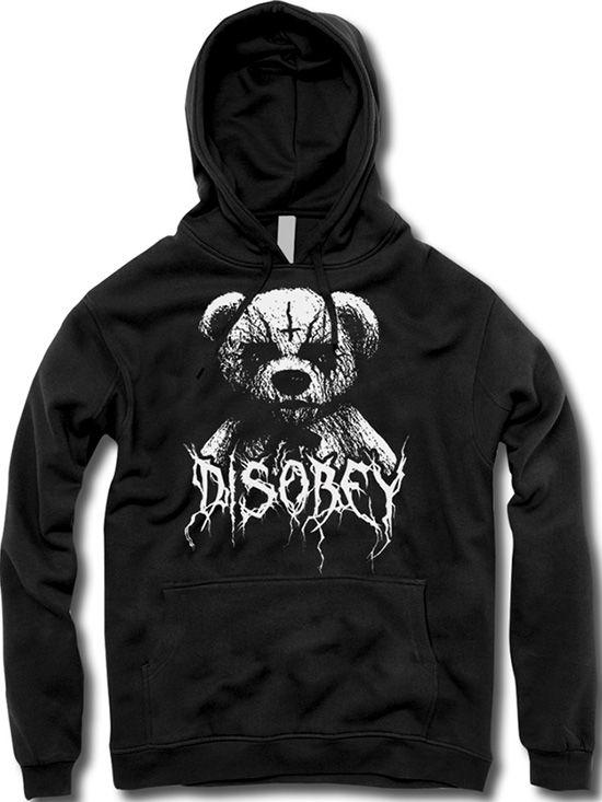 """Unisex """"Black Metal Teddy"""" Hoodie by The T-Shirt Whore (Black)"""