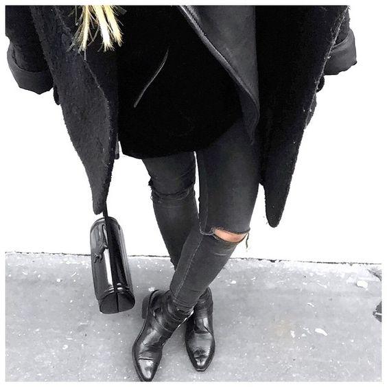 Ootd // Saturday Outfit • Coat #carven (old) • Leather Jacket #samsoesamsoe (on @samsoesamsoe) • Dress #cos • Jean #aninebing (on @cyrielleforkure