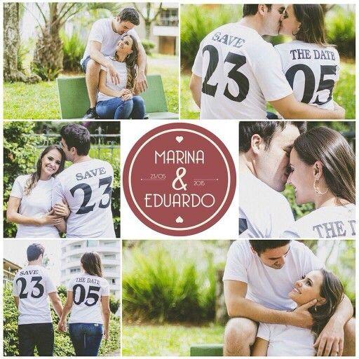 Save The Date de Marina e Dudu por Junior Alm! Casamento realizado por Flor de Lis Assessoria em 23.05.16