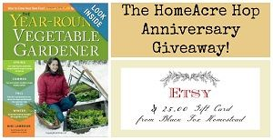 Giveaway!  Year-Round Vegetable Gardener and a $25 Etsy Gift Card.  Ends 2/6/14