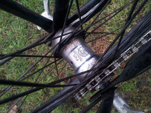 Brandenburg Fahrrad Schwarz mit Blauer Linierung - www.kintuks-opelclassics.de