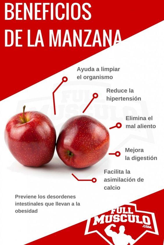 infografía de los beneficios de la manzana:
