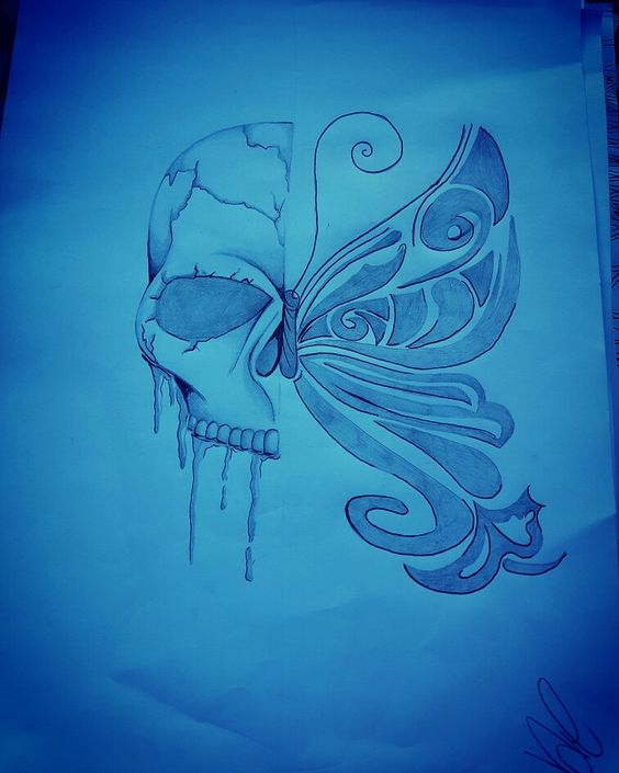 #teschio #farfalla #vita #morte #design #veronika