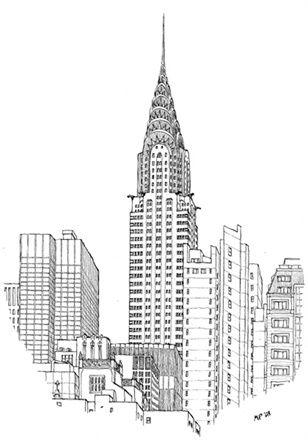 Crysler building etats unis pinterest fen tre les for Building sans fenetre new york