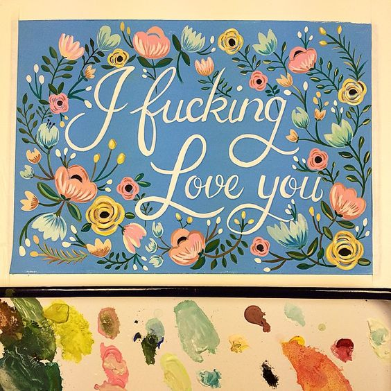 Dropping the F bomb because I love you  New greeting cards will be up soon in my Etsy shop! #fbomb #fword #thatshowmuchiloveyou #greetingcard #stationery #card #sayhello #floral #pretty #painting #drawing #inspired #coral #blue #dirtylola #dirtylola #dirtylola #etsy #etsyshop #handmade #handpainted #handlettering #sweet #cute #naughty #sassy #type #art #goals