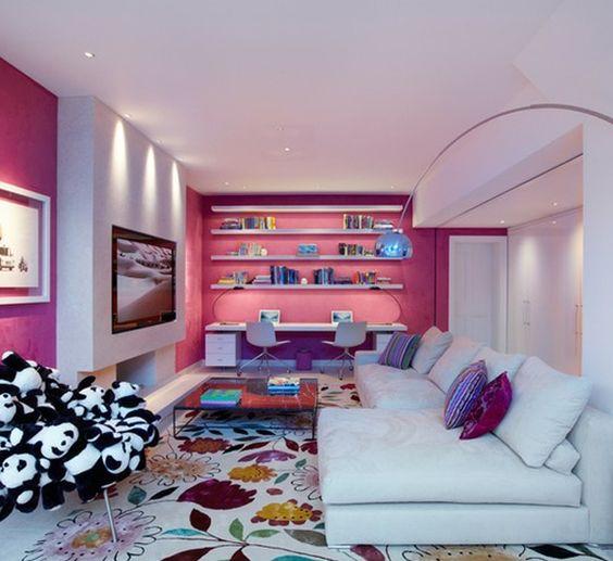 Good Cute And Modern Living Room Design Ideas | Pink Rooms | Pinterest | Modern Living  Room Design, Modern Living Rooms And Modern Living Amazing Pictures