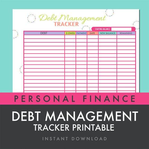 Printables Debt Worksheet products worksheets and fit on pinterest debt management tracker worksheet printable instant download by freshpaperieetsy 2 99