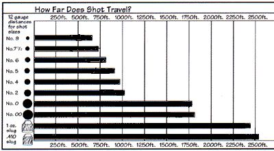 shotgun+shot+size+chart | Shotgun Distances