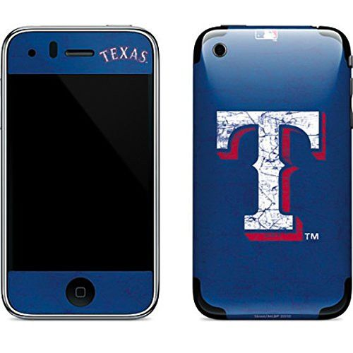 MLB Texas Rangers iPhone 3G&3GS Skin - Texas Rangers - Solid Distressed Vinyl Decal Skin For Your iPhone 3G&3GS
