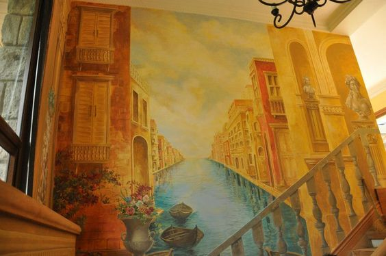 Mural by the staircase (Venice)