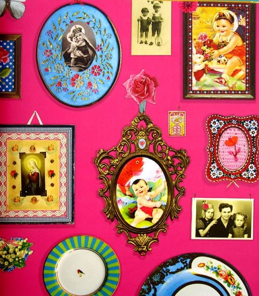 Kitsch wall decor interiors pinterest kitsch style Decoration kitsch