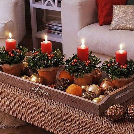 DIY: centro de mesa navideño. (Small
