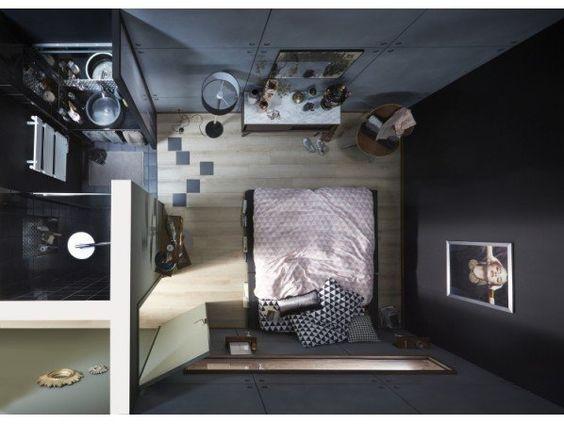 Une micro salle de bains dans moins de 3 m² | Leroy Merlin ...