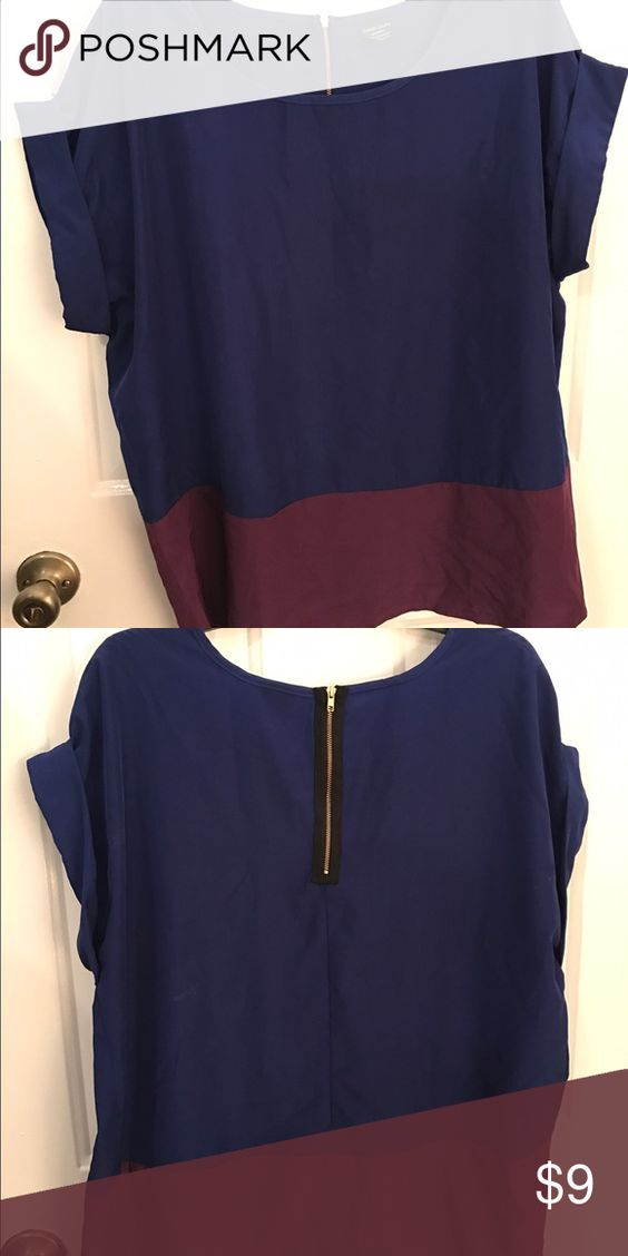 Faded Glory color block shirt Faded Glory color block top. Very loose fit, more like a tunic just not quite as long. Faded Glory Tops
