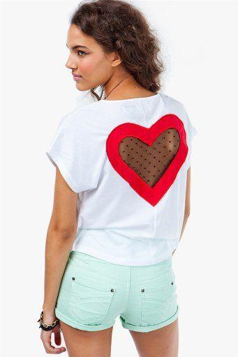 #A`Gaci                   #love                     #A'GACI #Lost #Love #Mesh #Heart #SALE #ITEMS       A'GACI Lost In Love Mesh Heart Tee - NEW SALE ITEMS                           http://www.seapai.com/product.aspx?PID=1861953