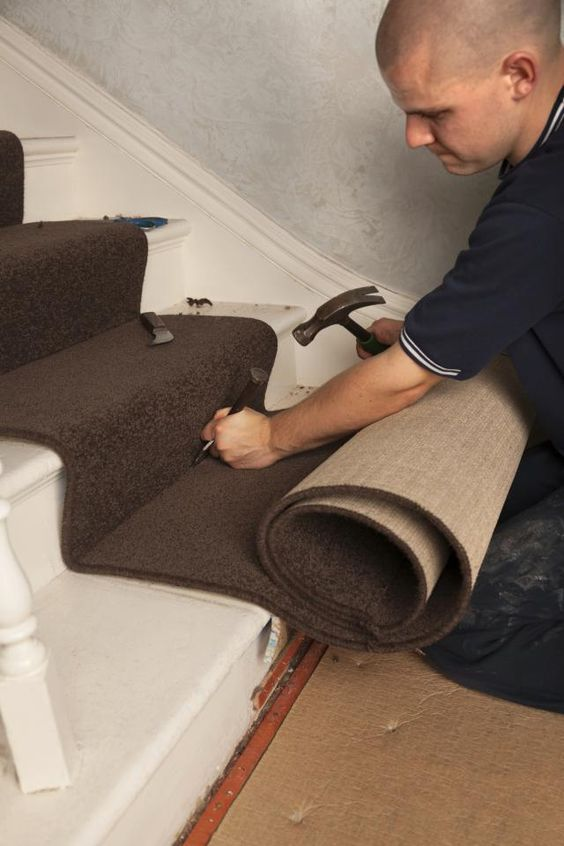 How To Install Carpet On Stairs Carpet Installation Installing