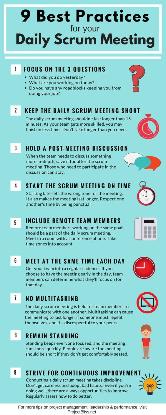 Best Practices Daily Scrum Meeting