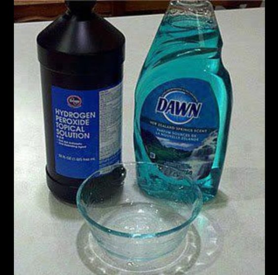 Best stain remover ever! Don't buy oxi clean again!  1 tsp. Dawn dishwashing detergent 3-4 tablespoons of hydrogen peroxide couple tablespoons of baking soda. Scrub on with a scrubbing brush