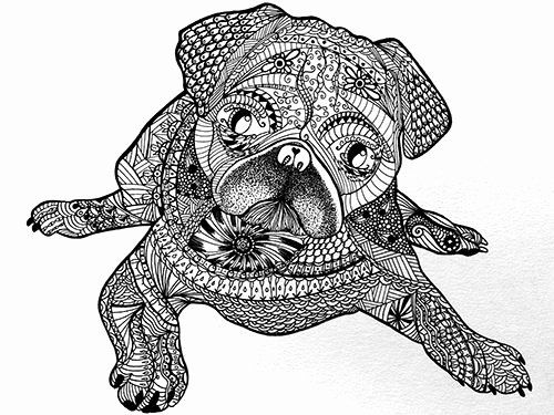 30 Doug The Pug Coloring Book In 2020 Puppy Coloring Pages