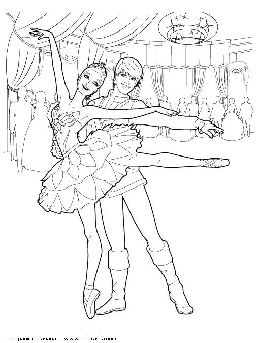 Pin By Lena On Barbie Balerina Dr Dance Coloring Pages Mermaid Coloring Book Barbie Drawing