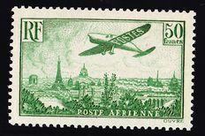 France 1936 - Airmail 50fr yellow green - Yvert Airmail n° 14