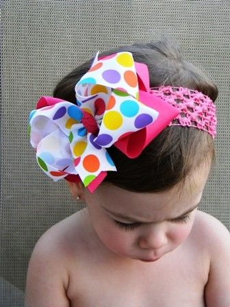 Summer Gumball Dots Boutique Hair Bow by theprincessandme on Etsy, $5.99