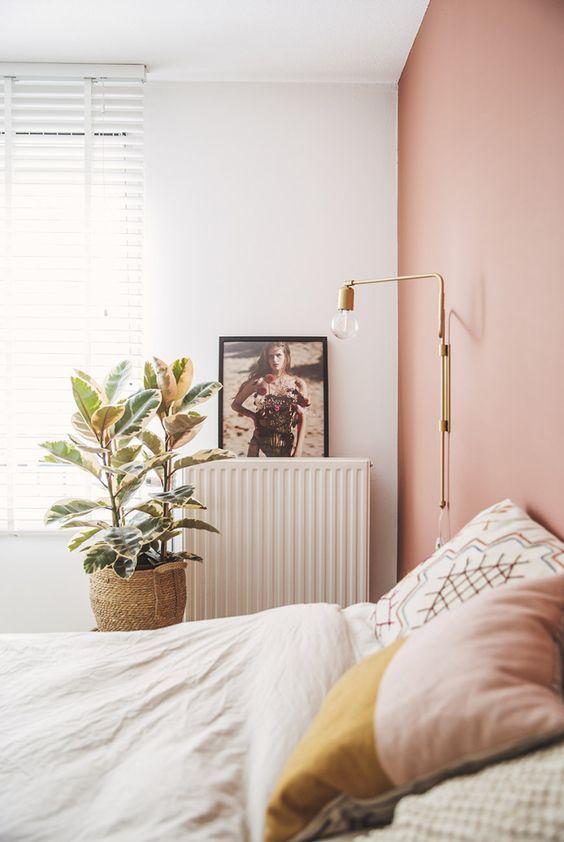 Deco Chambre Rose Poudre Boheme Lin Idee Peinture Chambre