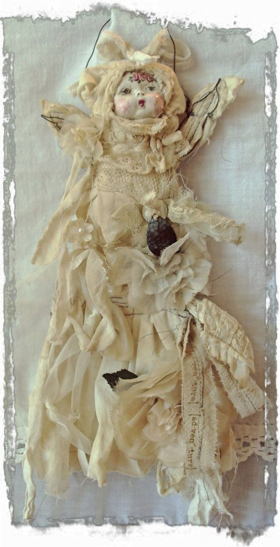 JoAnnA Pierotti Fairy Art Doll.....from her amazing online workshops at Moss Hill Studio...........