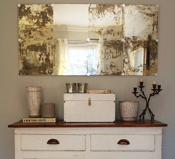 Hand Painted Wall Tiles Simple Ways To Decorate Old: Make It: Create Your Own DIY Antiqued Wall Mirror
