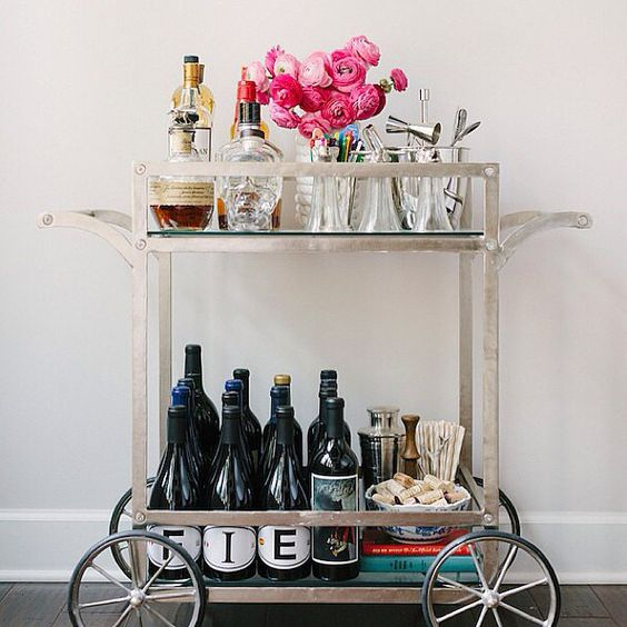 You've done an excellent job of styling your own bar cart
