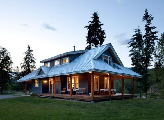 Comfortable Ranch Style Barndominium For Small Families Mab House Designs Exterior Barn House Plans House Exterior