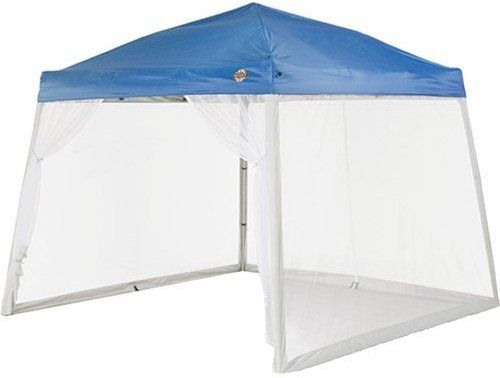 Amazon Com Quest 10 Ft X 10 Ft Mesh Screen For Slant Leg Instant Ez Up Pop Up Recreational Canopy Tent N Canopy Tent Mesh Screen Rectangular Patio Umbrella