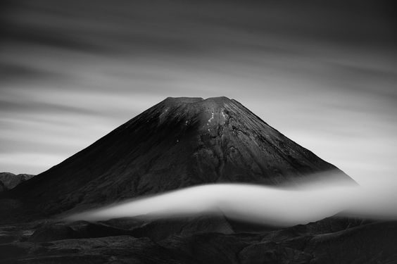 Mt Ngauruhoe, New Zealand.  This was the location for Mt Doom in The Lord of the Ring movies.  www.MikeHollman.com