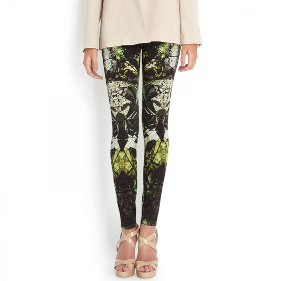 Printed stretch jersey leggings, Skinny, Harvey Nichols Store View