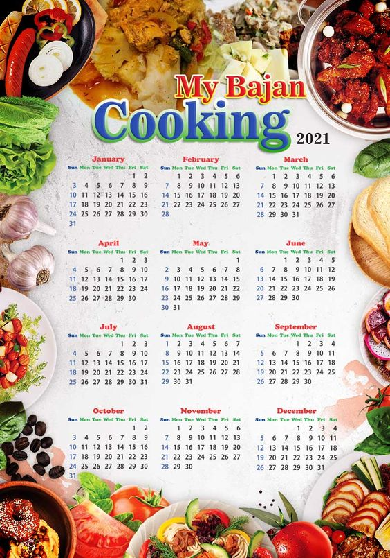 Barbados custom food calendar