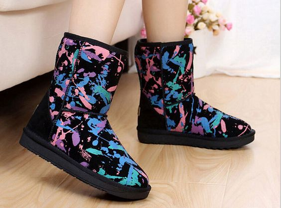 New Winter Boots Leather Boots In Winter Cotton Boots Snow Child
