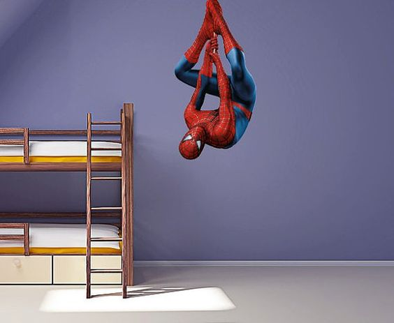 Full Colour Spiderman v2 wall sticker nursery kids bedroom decal mural graphic boys superhero on Etsy, $10.98