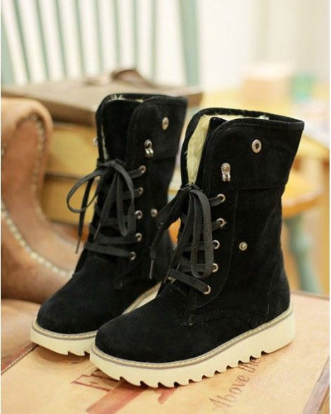 MATTE SUEDE COTTON PADDED BOOTS
