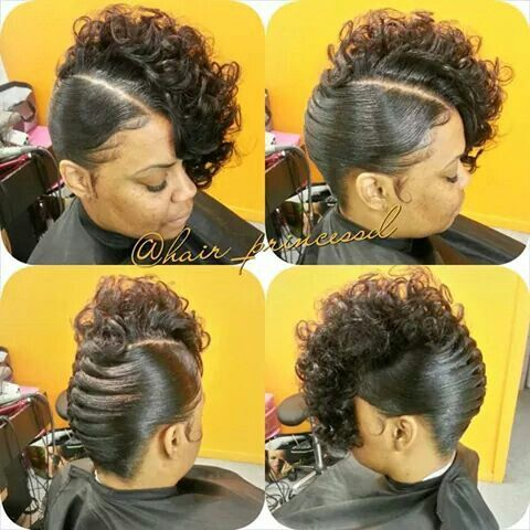 French Roll Hairstyles Black Women french roll with a curly top ...