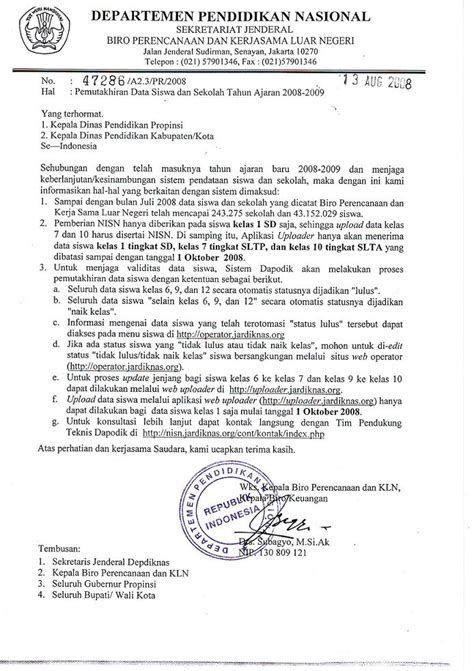 Contoh Surat Dinas Resmi Dengan Tembusan Contoh Surat