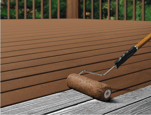 Painting Vs Staining A Deck Staining Deck Painted Wood Deck Deck Flooring