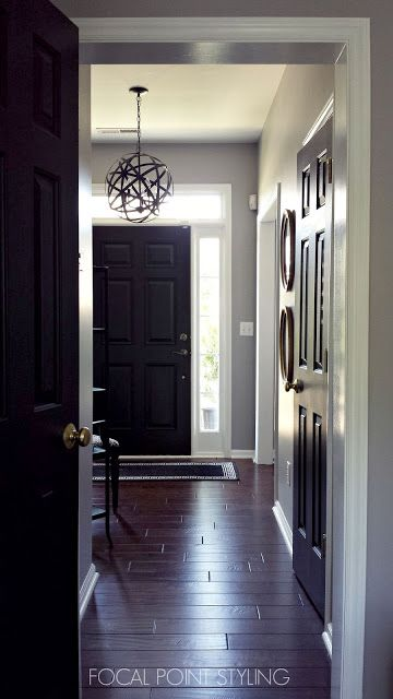 focal point styling painting interior doors black updating brass hardware decor entries. Black Bedroom Furniture Sets. Home Design Ideas