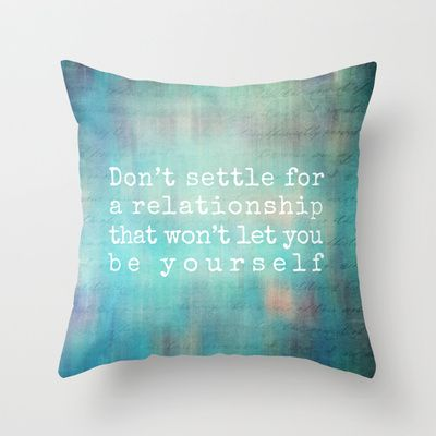 don't settle Throw #Pillow by Sylvia Cook Photography - $20.00 #homedecor #typography #aqua #turquoise