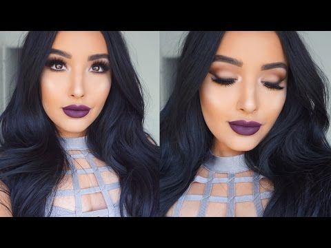 Dark lip makeup tutorial