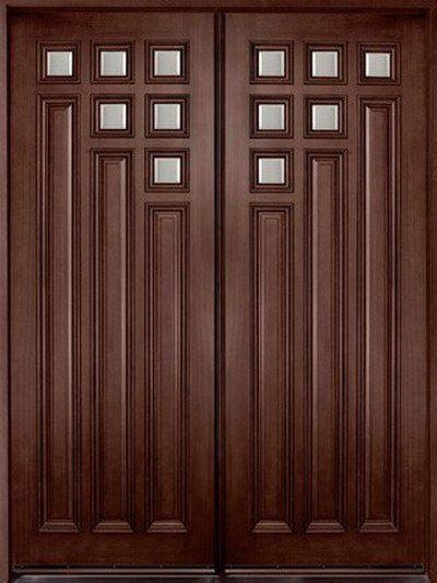 Puertas de madera puertas y barandas herreria pinterest for Modelos de puertas de ingreso