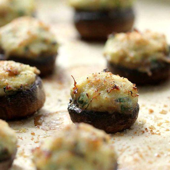 Crab-Stuffed Mushrooms | Recipe | Stuffed mushrooms ...