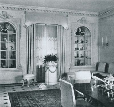 Grace and Harry Payne Bingham dining room designed by Syrie Maugham.