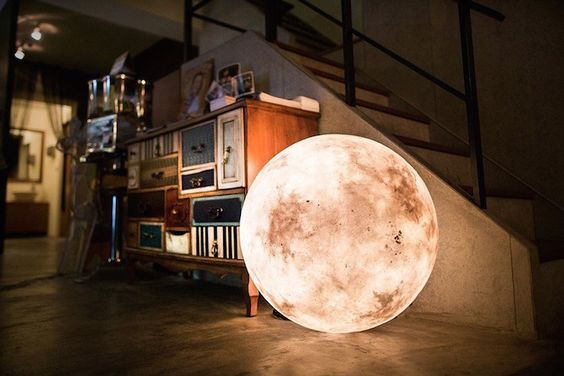 The designers behind Taiwan-based Acorn Studio created 'Luna', a unique lamp that looks like a full moon.